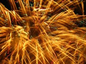 諏訪湖の湖上花火