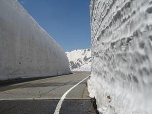 5月末の雪の大谷